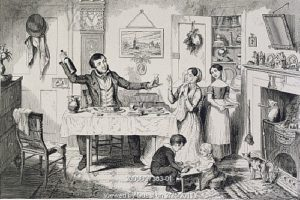 The Bottle is brought out for the first time, by George Cruikshank. London, England, 1847